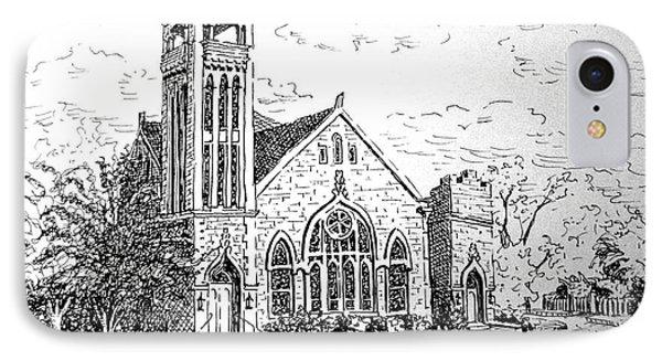 Louisianna Church 1 IPhone Case by Gretchen Allen