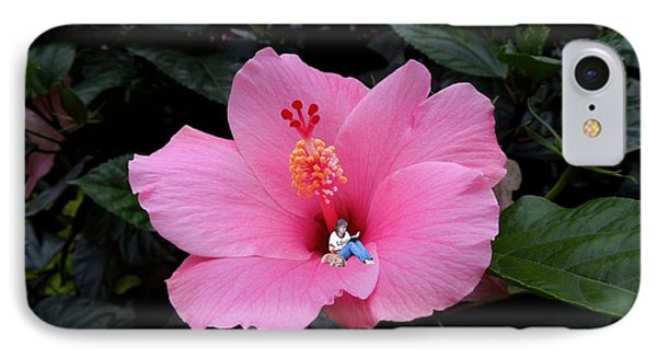 Lounging In A Hibiscus Phone Case by Renee Trenholm