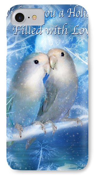 Love At Christmas Card IPhone Case by Carol Cavalaris