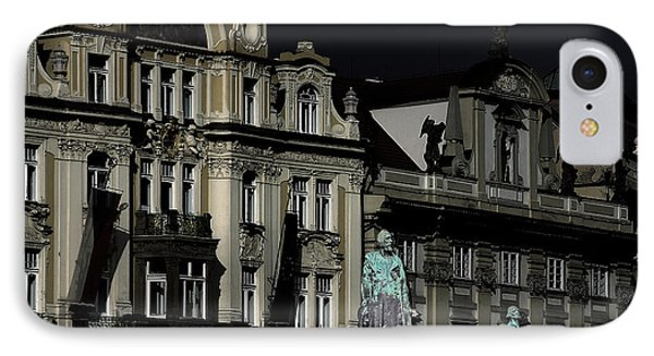 Love Each Other And Wish The Truth To Everyone - Jan Hus Prague Phone Case by Christine Till