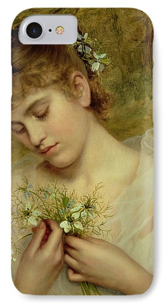 Love In A Mist IPhone Case by Sophie Anderson