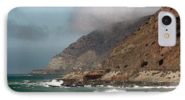 Low Clouds On The Pacific Coast Highway Phone Case by John Rizzuto