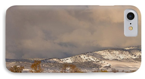 Low Winter Storm Clouds Colorado Rocky Mountain Foothills 2 IPhone Case
