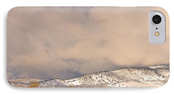 Low Winter Storm Clouds Colorado Rocky Mountain Foothills 4 IPhone Case by James BO  Insogna