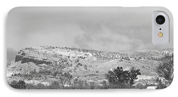 Low Winter Storm Clouds Colorado Rocky Mountain Foothills 7 Bw IPhone Case by James BO  Insogna