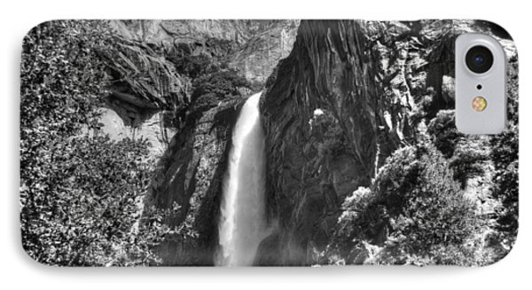 Lower Yosemite Falls Bw Phone Case by Bruce Friedman