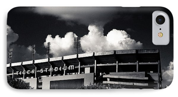 Lsu Tiger Stadium Black And White IPhone Case by Maggy Marsh