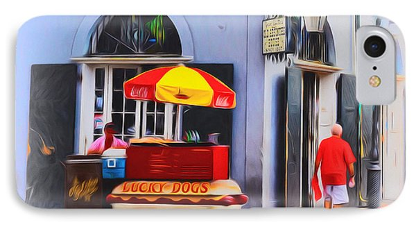 Lucky Dogs - Bourbon Street Phone Case by Bill Cannon