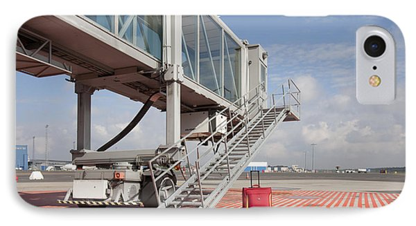 Luggage At A Gate Bridge Phone Case by Jaak Nilson