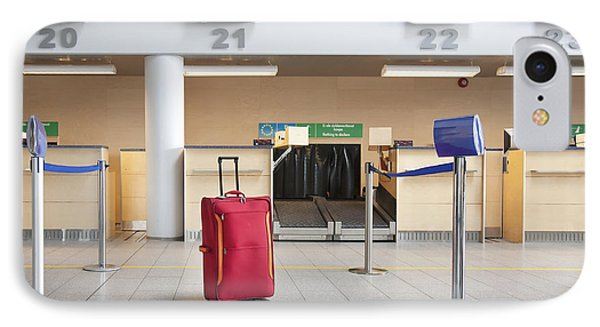 Luggage At An Airline Check-in Counter Phone Case by Jaak Nilson