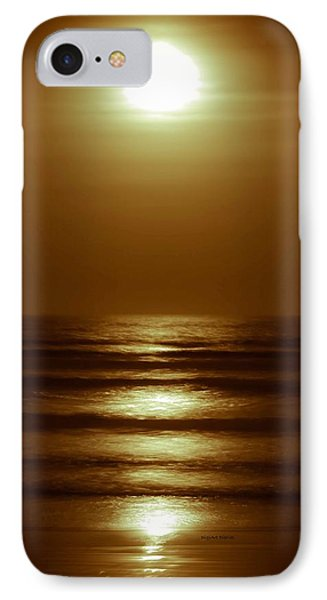 Lunar Tides I Phone Case by DigiArt Diaries by Vicky B Fuller