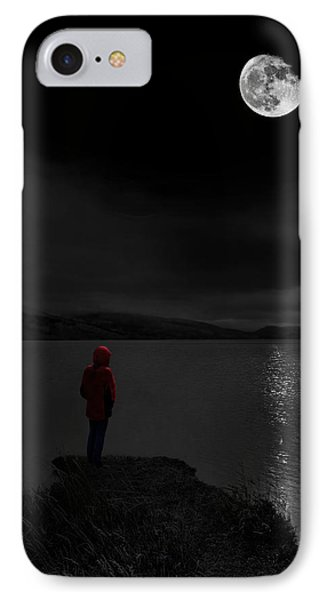 IPhone Case featuring the photograph Lunatic In Red by Meirion Matthias