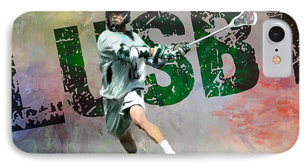 Lusby Lacrosse Phone Case by Scott Melby