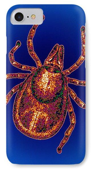 Lyme Disease Tick Phone Case by Pasieka