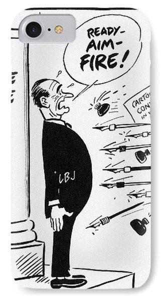 Lyndon B. Johnson: Cartoon Phone Case by Granger