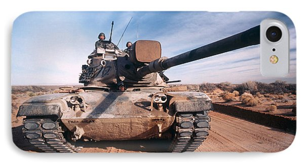 M-60 Battle Tank In Motion Phone Case by Stocktrek Images