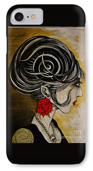 IPhone Case featuring the painting Madame D. Eternal's Dance by Sandro Ramani