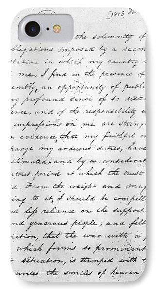Madison: Inaugural, 1813 IPhone Case