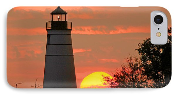 Madisonville Lighthouse Sunset IPhone Case