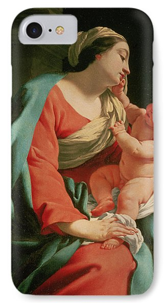 Madonna And Child Phone Case by Simon Vouet