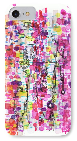 Magenta Rhapsody Phone Case by Regina Valluzzi