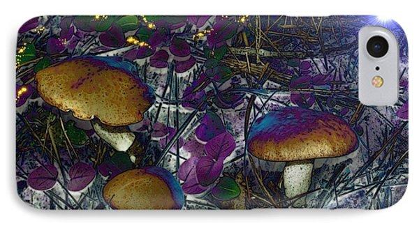 Magic Mushrooms Phone Case by Barbara S Nickerson