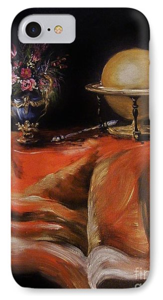 IPhone Case featuring the painting Magical Beginnings by Karen  Ferrand Carroll