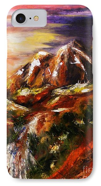 IPhone Case featuring the painting Magical Morn by Karen  Ferrand Carroll