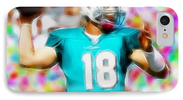 Magical Peyton Manning Miami Dolphins Phone Case by Paul Van Scott