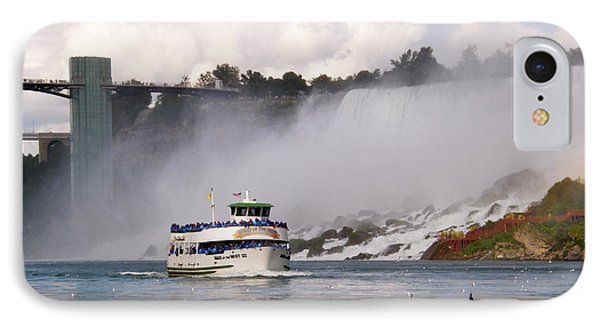 IPhone Case featuring the photograph Maid Of The Mist At Niagara Falls by Mark J Seefeldt