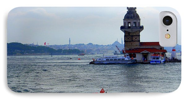 IPhone Case featuring the photograph Maidens Tower Istanbul by Lou Ann Bagnall