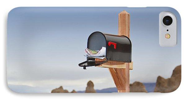 Mailbox In Desert Phone Case by David Buffington