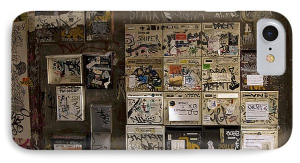 Mailboxes With Graffiti Phone Case by RicardMN Photography