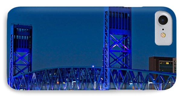 Main Street Bridge Jacksonville Phone Case by Debra and Dave Vanderlaan