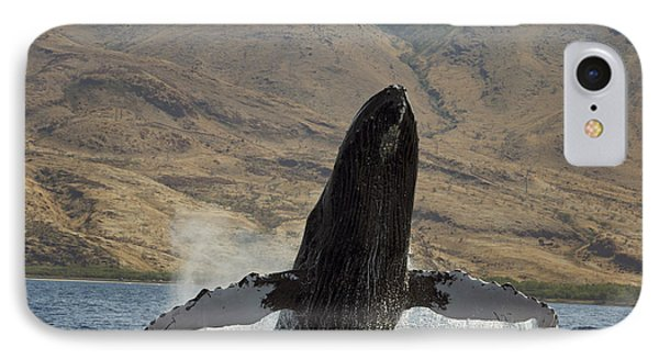 Majestic Breaching Whale Phone Case by Dave Fleetham