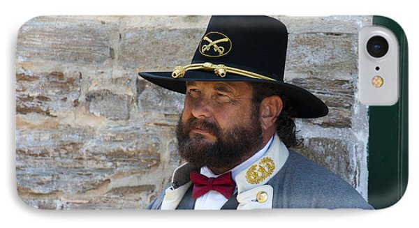Major General Lunsford L.lomax Portrayed By Dan L. Carr 150th Anniversary Of The American Civil War  Phone Case by Jonathan Whichard