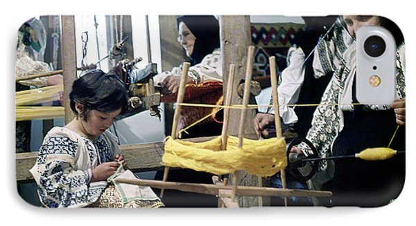 Making Wool Clothing In Vrancea Romania IPhone Case