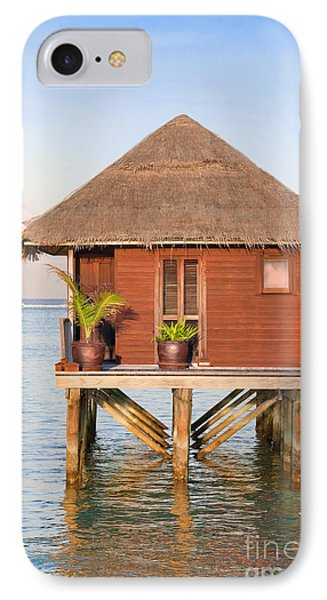 Maldives Villa IPhone Case by Jane Rix