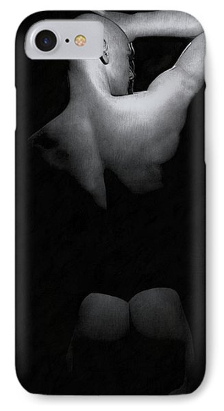 IPhone Case featuring the digital art Male Back by Maynard Ellis