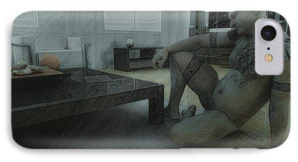 Male Nude Study Phone Case by Maynard Ellis
