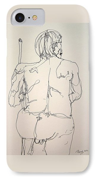 The Naked Man Hiking IPhone Case by Rand Swift