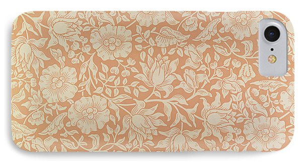 Mallow Wallpaper Design Phone Case by William Morris