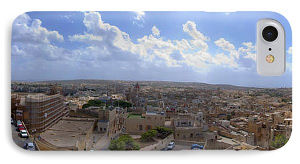 Malta Panoramic View Of Valletta  Phone Case by Guy Viner