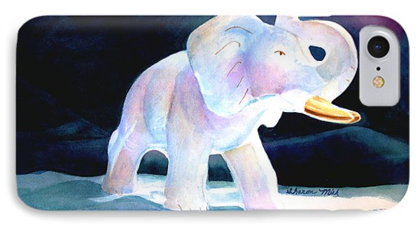 IPhone Case featuring the painting Mama's White Elephant by Sharon Mick