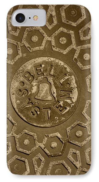 Man Hole Cover For Ma Bell Phone Case by Kym Backland