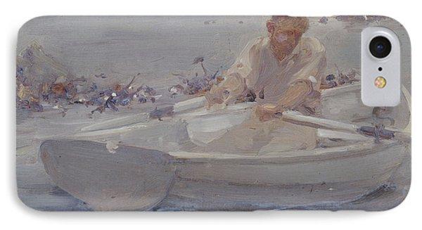 Man In A Rowing Boat Phone Case by Henry Scott Tuke