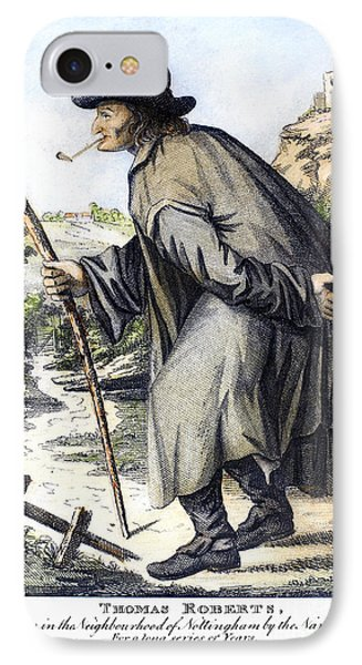 Man With Cane, C1795 Phone Case by Granger
