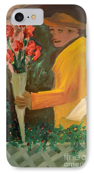 Man With Flowers  Phone Case by Bruce Stanfield