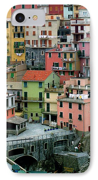 Manarola Houses On The Cinque Terre Phone Case by Greg Matchick