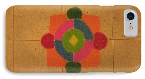 Mandal Rangoli IPhone Case by Sonali Gangane
